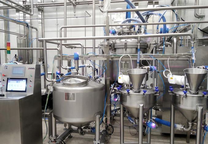 Impianto per la produzione in batch di maionese