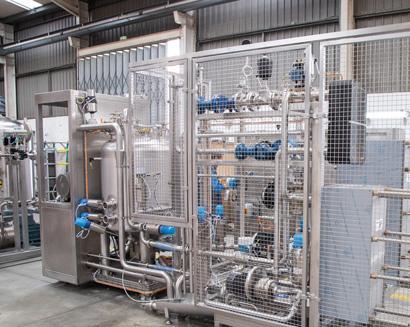 Linea per la produzione di diversi prodotti lattiero-caseari