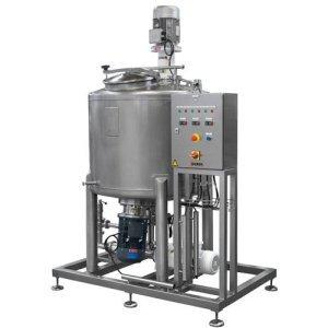 Impianto per la produzione di gel idroalcolici